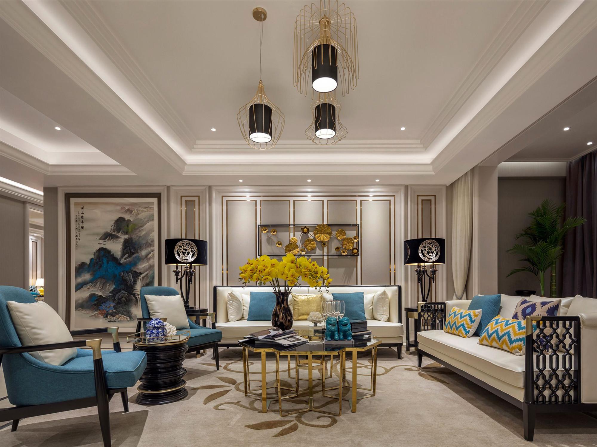 苏州128平米客厅装修设计
