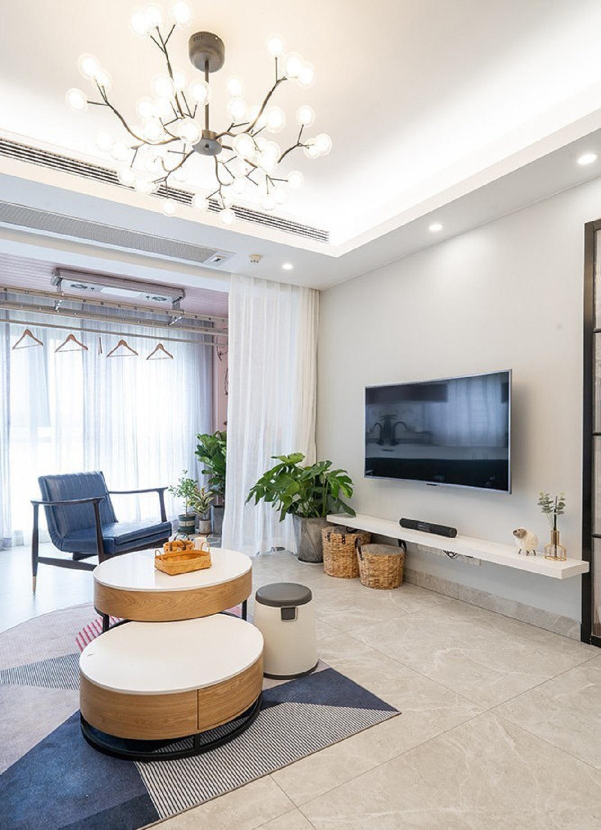 苏州79平米客厅装修设计